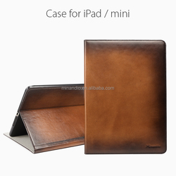 Alibaba China bottom price leather flip cover case for ipad mini