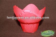 tulip cupcakes de copos de papel manteiga