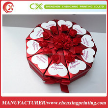 Red Triangle Assembly Wedding Candy Boxes Gifts Paper Favors Cookie Packing Boxes