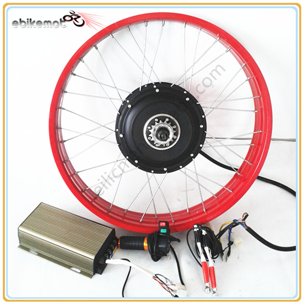 60v/72v/84v/96v 5000w ebike rear hub motor LED display conversion kit