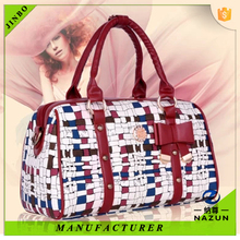 hot sales winter style bamboo flap bag PU fashion tote bag for women