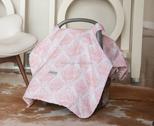 Baby Infant Car Seat Cover w/Attachment Straps and Minky Fabric/car seat covers