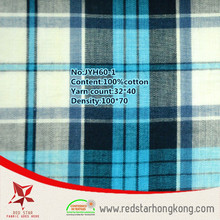 Special cheap wholesale drapery check fabric for t shirt