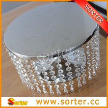 2015 new products wholesale wedding crystal cake stand for decoration