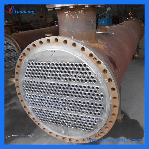 Baoji Titanium Shell Tube Heat Exchanger For Swimming Pool Pump Manufacturer Buy Titanium Heat