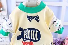 d60116h 2015 spring and autumn Super soft cotton baby children's underwear boy and girl Shoulder button sets