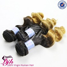 2015 hot sale 100% Peruvian human hair loose wave full cuticle can be dyed bleached fast del Extension No Tangle And No Shedding
