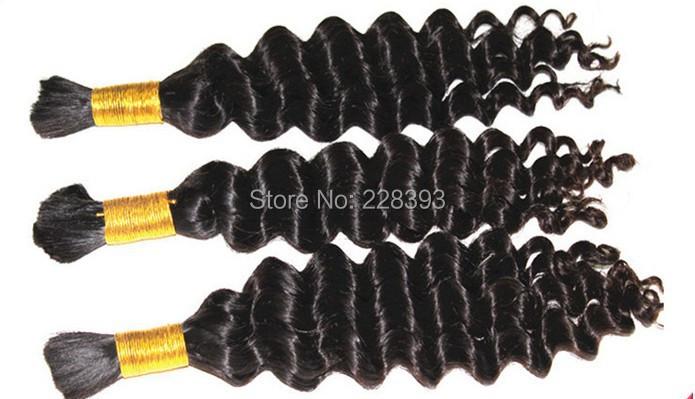 6A Brazilian Curly Virgin Hair Braiding Bulk Deep Wave Curly Human Hair for Braiding No Weft Human Hair Bulk for Braiding