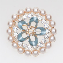 Vintage bridal bouquet brooches inmitation flower pearl brooches