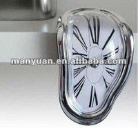 CT-135 Creative seated distorted Designed Wall Clock (Creative item: the melting clock / table angle clock / Roba digital clock)