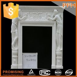 Wholesale in Guangzhou stone carved china quartz fireplace surrounding