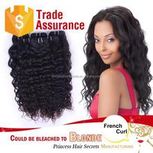 7A Unprocessed Brazilian Virgin Hair Virgin Brazilian french curl Hair Extension