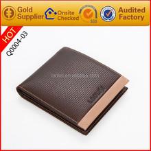 2015 hot sale best mens wallet brand genuine cowhide leather wallet