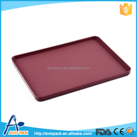 Top selling dark red ABS plastic aircraft catering plastic serving tray