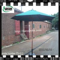 Outdoor Furniture General Use and Umbrella Type 2.7m wooden market umbrella Foshan FS-012