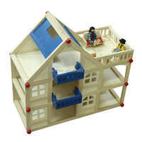 Hot sales wooden three storey wooden play house for kids