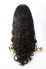 High End Virgin Hair Regular Density Without Knotting Mongolian Remy Hair Kosher Wigs Wholesaler