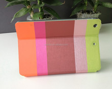Pastel Rainbow Color Waterproof Durable Stand Leather Case Cover for iPad Mini 1/2 /3 (With Automatic Wake/Sleep Function)