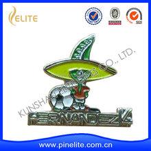 Silver Plated Custom Die Cutting Patriotic Lapel Pin