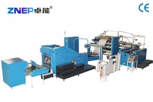 Automatic paper shopping bag forming machine with handle