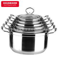 SZB - stainless steel cookware sets / Double Bottom pot / stainless steel 10pcs set