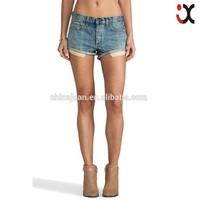 2015 lady Funky denim short trousers cutting denim jeans JXW024