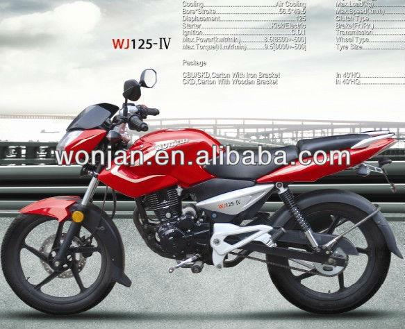 150cc India Bajaj Pulsar calle en la carretera de la motocicleta