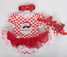 3 piece christmas romper dress for baby girl, romper+headband+foot cover, hot sale tutu dress, jumpsuit