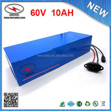 Customs Wheel 60V Chair Battery 10Ah Electric Motor Bike Battery 60V 10Ah Li ion Battery 900W with PVC Case 15A BMS & Charger