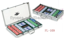 Aluminum black carrying top quality handy poker chip set with roulette at an affordable price