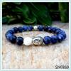 SN0269 Buddha Bracelet Men's Bohemian Mala Yoga Natural Stone Lucky Beads Sodalite Bohemian Bracelet