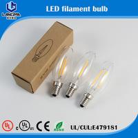 candle C35 E14 6500k led filament bulb UL led lantern with 360 degree illumination