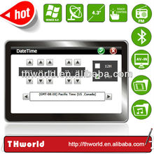 wholesale Thailand map sat nav system with 800MHz CPU bluetooth av-in optional function