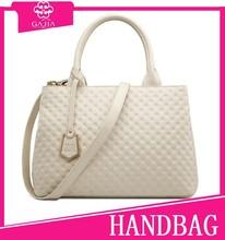 Baigou manufacturer designer fashion leather hand bag for women with white color