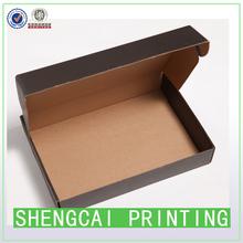 Black A4 size T-shirt light corrugated paper box shipping box