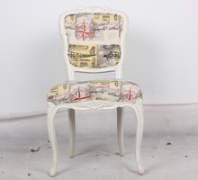 White Wood Banquet Dining Chair