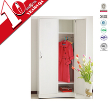 white two door interior wardrobe design / used steel wardrobes and armoires