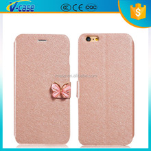 Great quality light weight hard wallet flip leather wonderful case for iPhone 6 plus