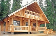 Wooden house, wooden home, log home, Siberian wooden log house, log house, wooden cottage, rest house