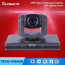 TEVO-V9600B usb camera 2.0 free driver usb web camera Wall/ceiling,/desk installation 18x zoom PTZ USB web conferencing cameras