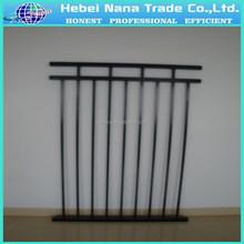 Galvanized steel palisade fence , steel powder coated , garden product