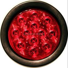 "LED Number 9 flash 12 V or 24 V led 4"" PVC Rubber round stop/turn/tail light for truck"