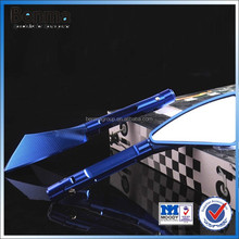 motorcycle back up rear view convex mirror with cnc technology