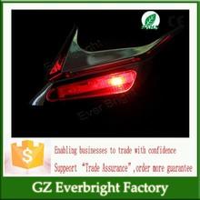LED side Decoration Lamp Solar Powered Car Shark Cheek LED Warning Flash Tail Light Traffic Alert Decorative Lights