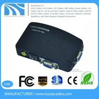 High quality Composite AV to VGA adapter Converter Composite RCA video (CVBS) and S-Video to VGA Converter