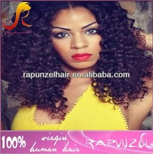 Crazy curly virgin brazilian hair full lace wig