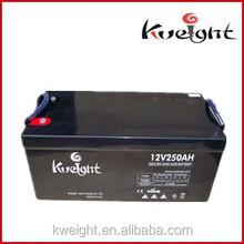 Sealed lead acid gel battery 12V 250 AH