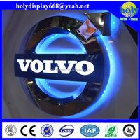 ABS Sliver plating 3d car logo, car logo brand, illuminated car logo for shop