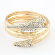 14k Gold Popular at High Quality Fashion Snake Bangle