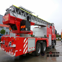53 m Morita inteligente camión aérea de incendios escalera con tubería de agua